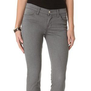 J brand gothem Gray zippered skinny jeans